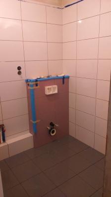Łazienka - zdjęcie w trakcie remontu