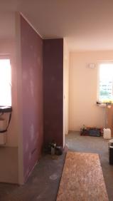 Salon - zdjęcie w trakcie remontu