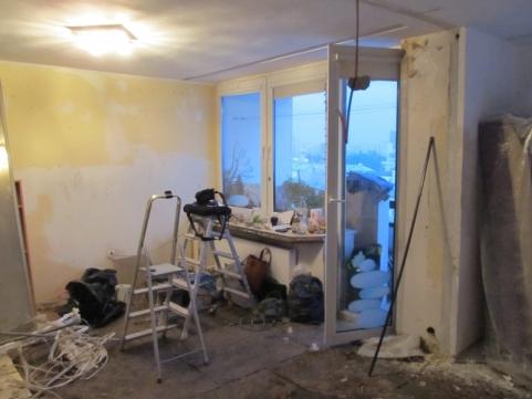 Salon - w trakcie remontu