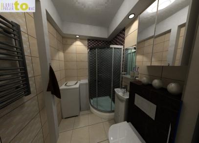 Łazienka - projekt (propozycja 1)
