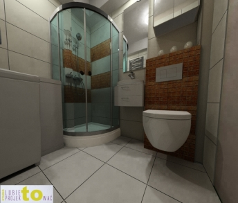 Łazienka - projekt (propozycja 2)