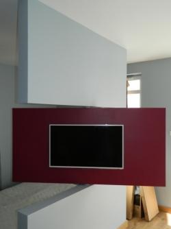 ruchoma ściana salon/sypialnia