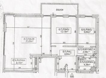 rzut deweloperski mieszkania