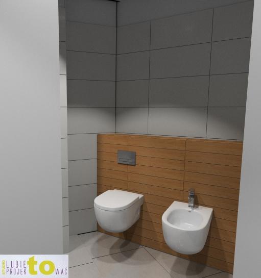 Łazienka przy garderobie - projekt