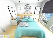 Sypialnia - projekt (trzecia propozycja)
