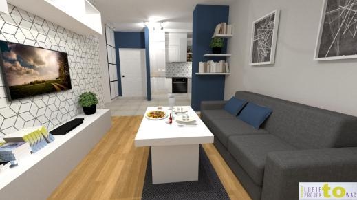 salon_projekt bez barku_widok na kuchnię