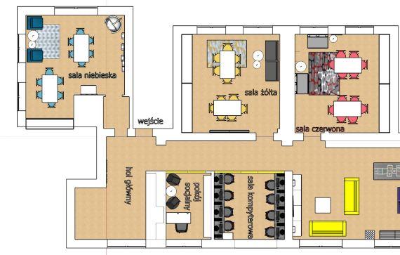 zaprojektowane pomieszczenia rzut z góry