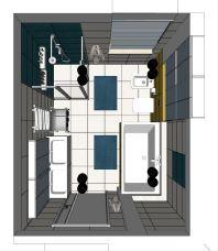 łazienka dzieci_projekt_rzut z góry